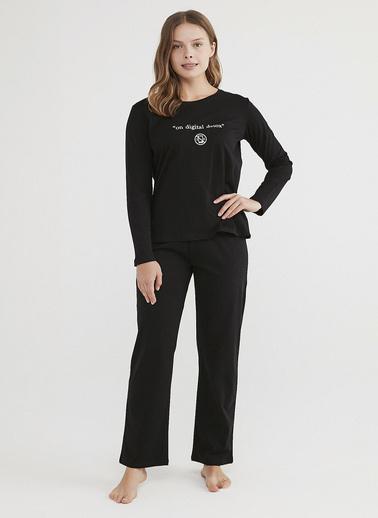 Penti Kadın Siyah Base Detox  Pijama Takım PNB57WSH21IY Siyah